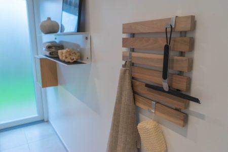 knagerække træ design entre badeværelse køkken