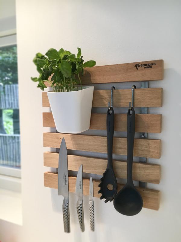 knagerække design vestkyst træ køkken knivmagnet