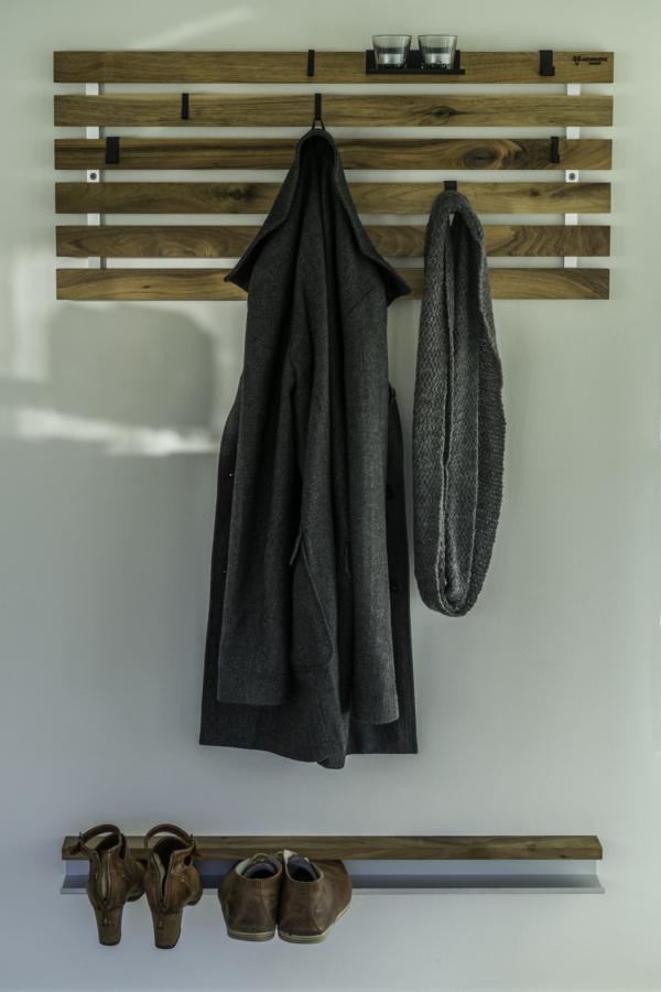 skohylde til væg træ design