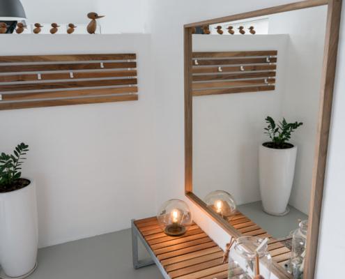 Gedebjerg Design knagerække bænk spejl