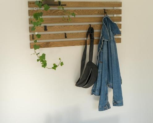 Knagerække skohylde træ lameller