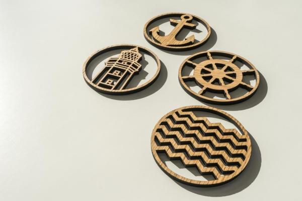 Coasters til glas træ